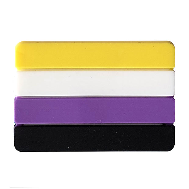 Non Binary Flag Silicone Rectangle Pin Badge