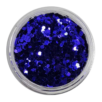 Octo Puss - Blue Metallic Mini Hexagon Glitter
