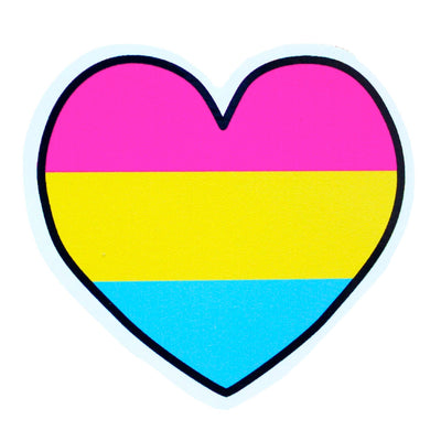 Pansexual Heart Vinyl Sticker