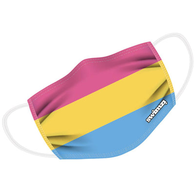 Pansexual Flag Twin Layer Face Mask