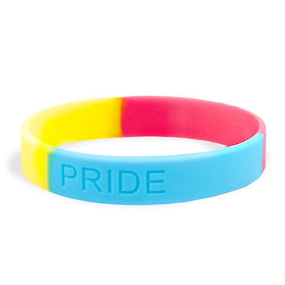 Pansexual Pride Silicone Wristband