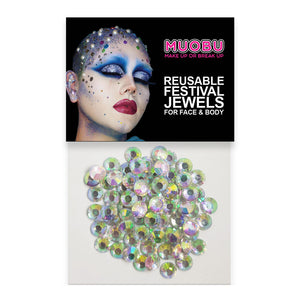 Pearl Diamontes - Face & Body Gems 6mm