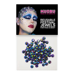 Petrol Diamontes - Metallic Face & Body Gems 4mm