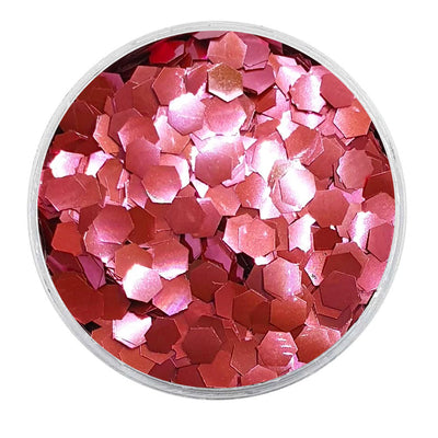 MUOBU Biodegradable Pink Glitter - Chunky Hexagon Metallic Glitter