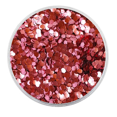 MUOBU Biodegradable Pink Glitter - Mini Hexagon Metallic Glitter