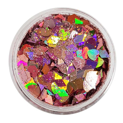 Pastel Pink Festival Glitter (Holographic Chunky Glitter Mix) - Pixie Love