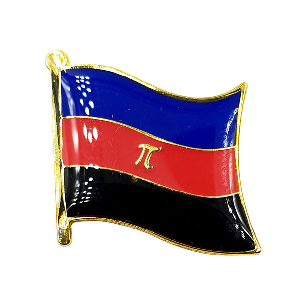 Polyamory Flag Gold Enamel Waving Flag Pin Badge