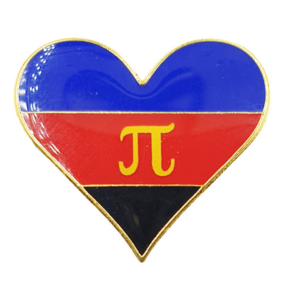 Polyamory Flag Metal Heart Lapel Pin Badge
