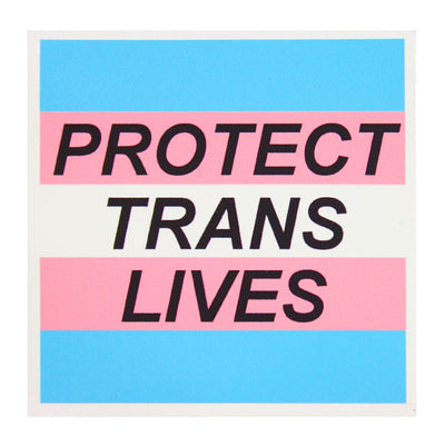 Protect Trans Lives Vinyl Sticker