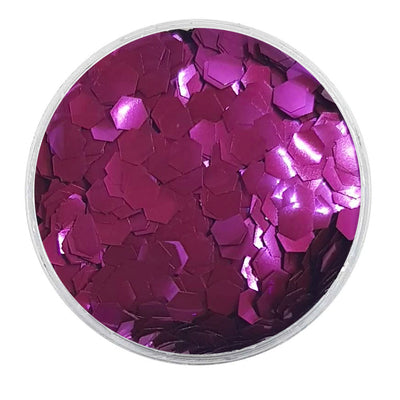 MUOBU Biodegradable Purple Glitter - Chunky Hexagon Metallic Glitter