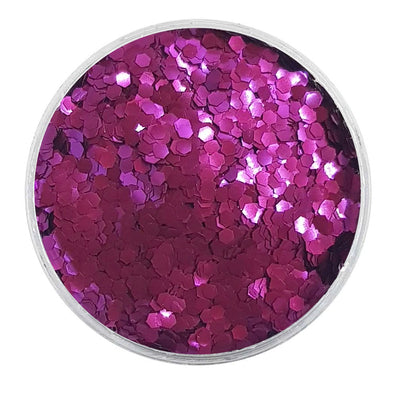 MUOBU Biodegradable Purple Glitter - Mini Hexagon Metallic Glitter