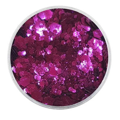 MUOBU Biodegradable Purple Mixed Glitter - Metallic Festival Chunky Glitter Mix