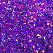 Purple Festival Glitter (Holographic Chunky Glitter Mix) - Purple Passion