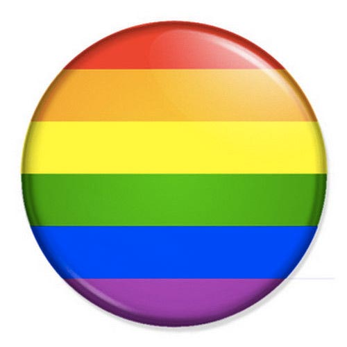 Gay Pride Rainbow Small Pin Badge