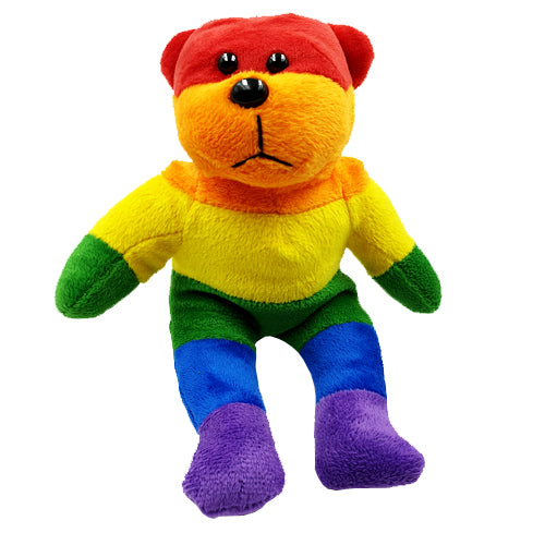 Gay Pride Rainbow Beanie Teddy Bear
