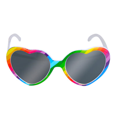 Gay Pride Rainbow Heart Shaped Sunglasses