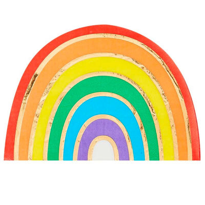 Gay Pride Rainbow Gold Foiled Party Napkins