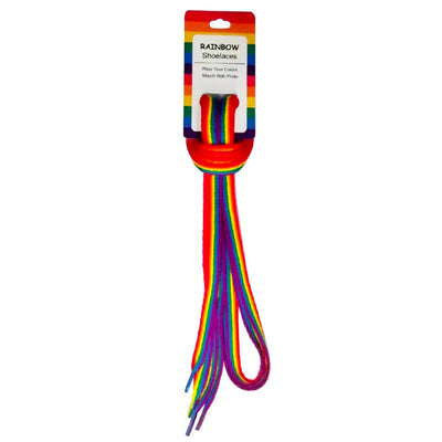 Gay Pride Rainbow Shoe Laces Premium