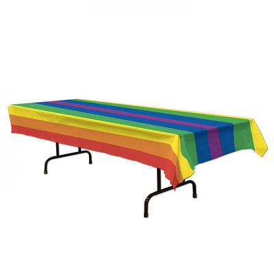 Gay Pride Rainbow Plastic Table Cover