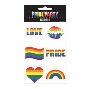 Gay Pride Rainbow Temporary Tattoos