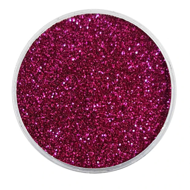 MUOBU Biodegradable Raspberry Red Glitter - Fine Metallic Glitter