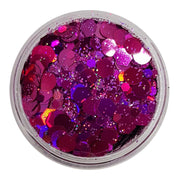 Red Festival Glitter (Holographic Chunky Glitter Mix) - Real Raspberry