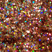 Rose Gold Festival Glitter (Holographic Chunky Glitter Mix) - Rose Gold