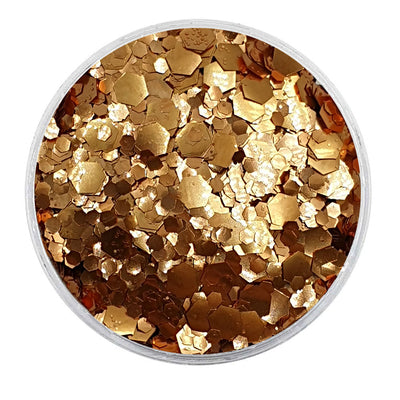 MUOBU Biodegradable Rose Gold Mixed Glitter - Metallic Festival Chunky Glitter Mix (BioGoldilocks)