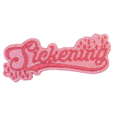 Sickening Embroidered Iron-On Festival Patch