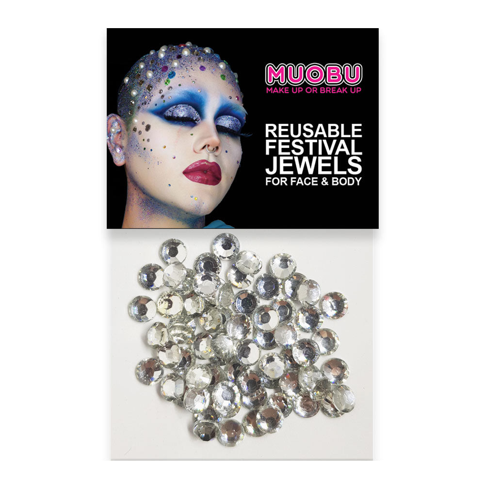 Silver Diamontes - Face & Body Gems
