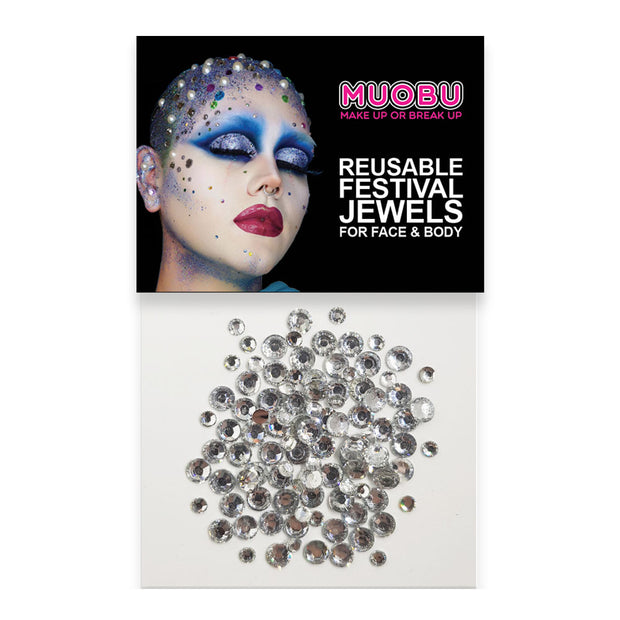 Copy of Silver Diamontes - Face & Body Gems (Mixed Size Pack)