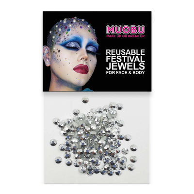 Silver Metallic Diamantes - Face & Body Gems 4mm