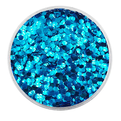 MUOBU Biodegradable Sky Blue Glitter - Mini Hexagon Metallic Glitter
