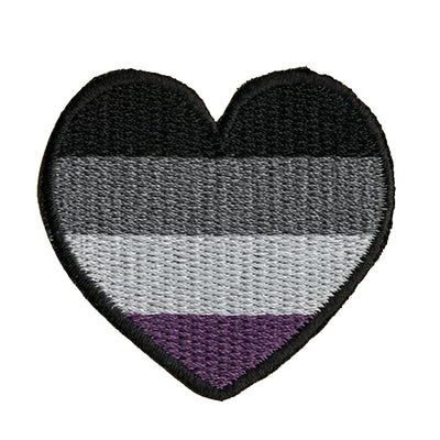 Asexual Heart Embroidered Iron-On Patch (Small)