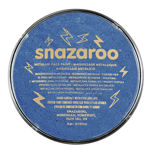 Snazaroo Face & Body Paint - Metallic Electric Blue