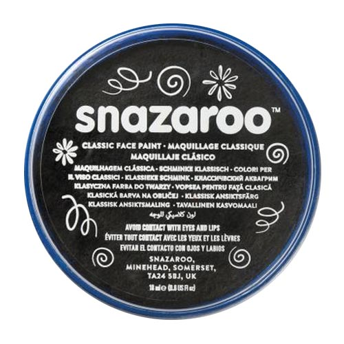 Snazaroo Face & Body Paint - Metallic Electric Black