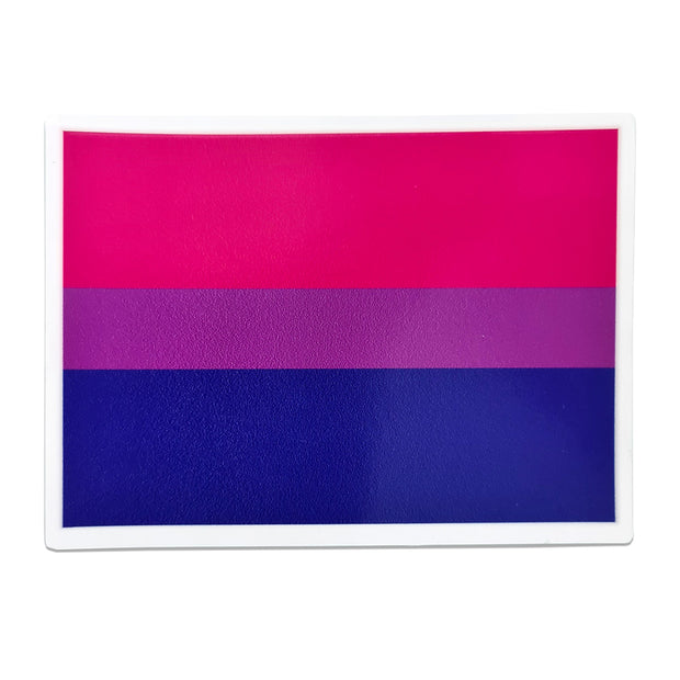 Bisexual Flag Rectangle Vinyl Waterproof Sticker