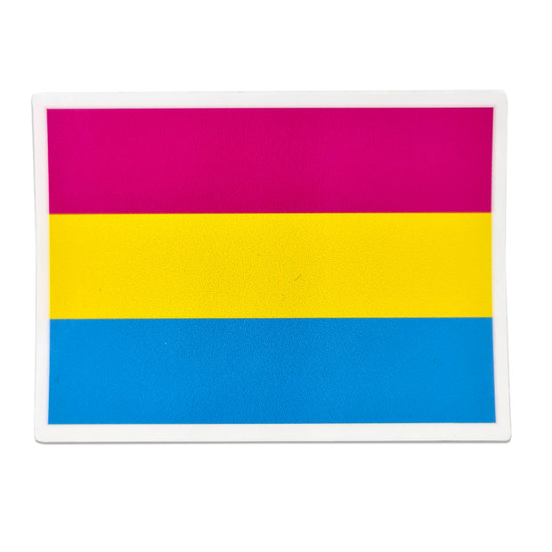 Pansexual Flag Rectangle Vinyl Waterproof Sticker