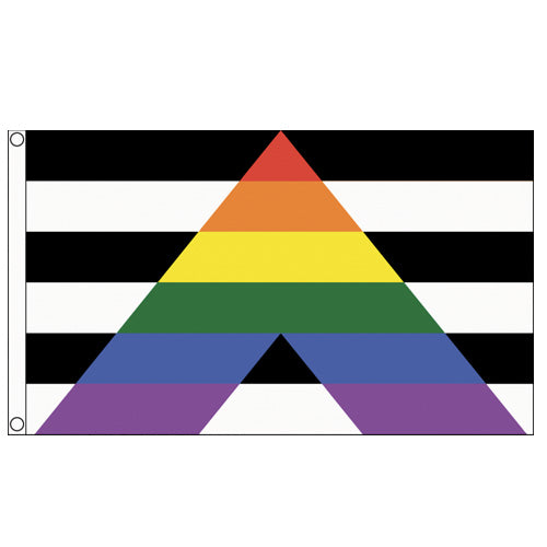 Straight Ally Flag (5ft x 3ft Premium)