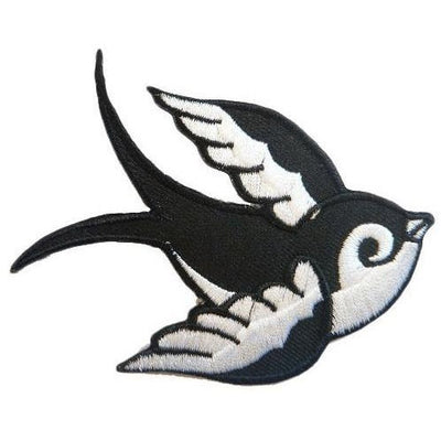Swallow Left Iron-On Festival Patch