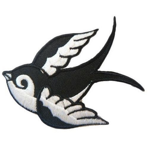 Swallow Right Iron-On Festival Patch