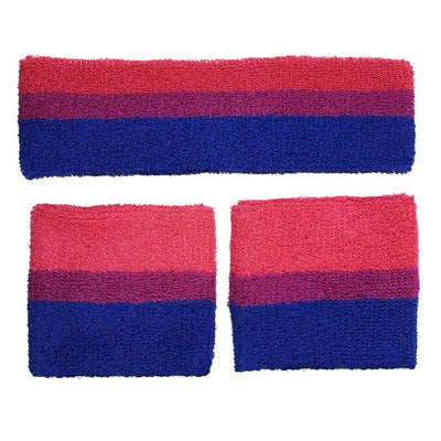 Bisexual Headband & 2 Sweatbands Set
