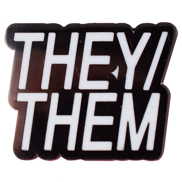 Pronoun They/Them Enamel Festival Pin