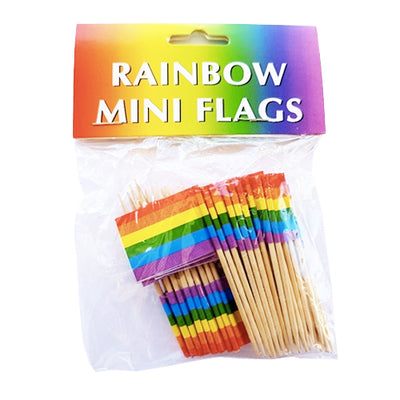Gay Pride Rainbow Cocktail/Toothpick Flags