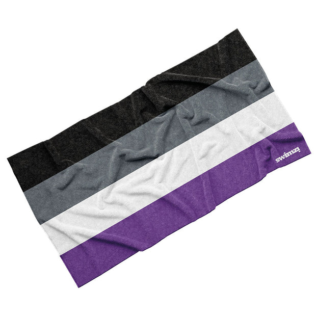 Luxury Cotton Towel - Asexual Pride