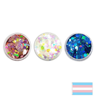 Transgender Flag - Festival Mixes Glitter Set (Save £2.00)
