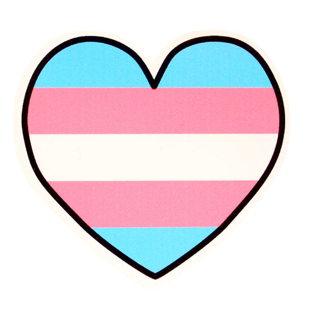 Transgender Heart Vinyl Sticker