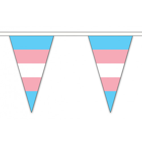 Transgender Pride Flag Cloth Bunting Small (20m x 54 flags)