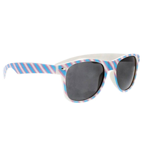 Transgender Flag Colours Wayfarer UV400 Sunglasses