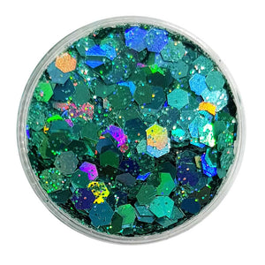 Turquoise Festival Glitter (Holographic Chunky Glitter Mix) - Little Mermaid